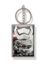 Genuine Star Wars Force Awakens 'Storm Trooper' Lenticular 3D Metal Keyring Fob