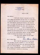 1925 George Haven Putnam - PUBLISHER -  G P Putnam's Sons - RARE signed letter