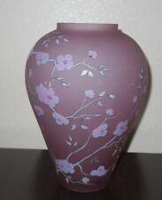 1984 Fenton Conniseur Collection Handpainted Rose Velvet Vase #54 of 750