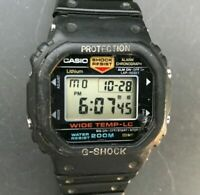 Rare 1984 CASIO G-Shock WW-5300C-1 (491) Wide Temp - LC Japan B - New Battery