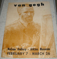 VINTAGE ORIGINAL VINCENT VAN GOGH NELSON ATKINS MUSEUM EXHIBITION POSTER KC