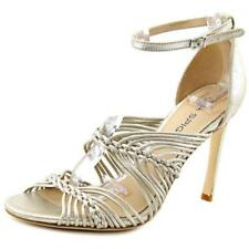 Sandalias y chanclas de mujer de tacón alto (más que 7,5 cm) de color principal oro de piel