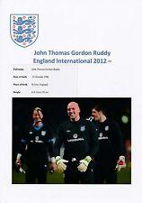 John rojiza Inglaterra 2012-Original fotografía firmada a mano