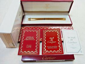 Cartier Trinity Vendome Godron Ballpoint Pen w/Box & Guarantee & New refill EX
