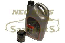 GENUINE SAAB 900 9000 9-3 9-5, OIL FILTER INSERT & ENGINE OIL, NEW, 93186554