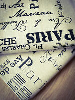 Paris Natural LINEN - Cotton Fabric. Price per 1/2 meter