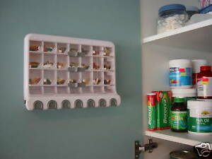 28 Day Pill & Vitamin Dispenser, Wall mount or stand alone - FDA approved.