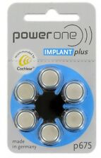 PowerOne 675 Cochlear Implant Batteries (30)