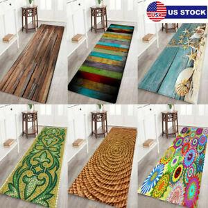 Non Slip Door Mats Long Hallway Runner Bedroom Rugs Kitchen Carpet Floor Mat USA