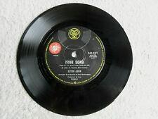 """Elton John Your Song Rare 1970 Promo 7"""" 45rpm Single 70s Pop Rock."""