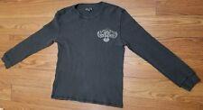 Lucky Brand Vintage Inspired Medium M Black Long Sleeve Sweater Thermal Men's