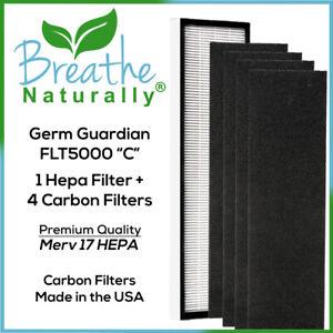 Germ Guardian FLT5000 Replacement Bundle 1 Hepa & 4pk Carbon Filters FLT5250PT
