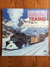TRAINS WALL CALENDAR HOWARD FOGG 2005