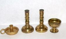 Vintage Brass Dollhouse Miniatures Pair Candle Sticks Chalice Candle Holder