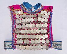 Tribal Ethnic Afghan Nomad Handmade Banjara Vintage Choli Kuchi Coins Crop Top