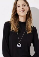 Ann Taylor LOFT Marbleized Ring Pendant Necklace