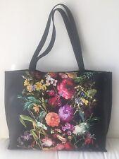 $178 Elliott Lucca Artisan Bouquet Black Floral Large Tote Handbag Purse NWT)))