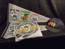 NOTRE DAME FLORIDA GATORS 1992 SUGAR BOWL PENNANT TEE SHIRT HAT COLLEGE FOOTBALL