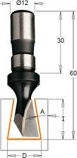 HM/HW Zinkenfräser für Handoberfräsen D=14 mm Schaft= 12 mm GL 60 mm CMT