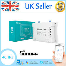 Sonoff 4CH R3 Wireless Smart WiFi Switch 4 Way for Alexa Google Home V1O6