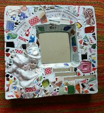 1995 Tom Bevan Brooklyn NY Artist Wedding Mirror Pottery Glass China Gift Signed
