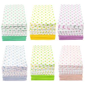 MuslinZ 12PK Baby Muslin Squares Cloths 70cms 100% Pure Soft Cotton Stars