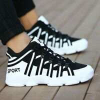 PU Leather Shoes Sport Men Leather Black Men Running Shoes Sports Women Sneakers
