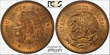1959-MO MEXICO 50 CENTAVOS BU UNCIRCULATED PCGS MS65RD COIN IN HIGH GRADE