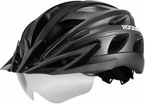 ROCKBROS Cycling MTB Road Bike Safety Helmet with Polarized Sunglass and Visor