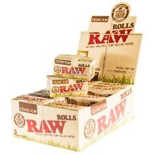 Raw Organic Hemp Rolls Rips 5 Meter Cigarette Smoking Rolling Papers - Full Box