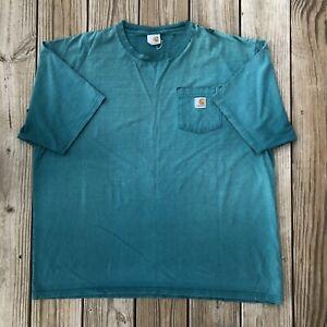 Vintage Sun Faded Carhartt Essential Pocket T-Shirt Distressed Streetwear sz XXL