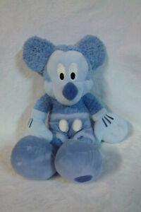 "Disney Mickey Cozy Purple Mickey Mouse 16"" Plush Soft Toy Stuffed Animal"