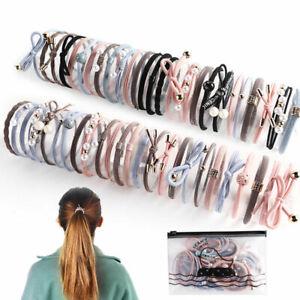 25/20/16PCS Elastic Hair Bands Mixed Rubber Band Headwear Ponytail Tie Hair Ring