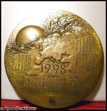 1998 Médaille Presse papiers Bronze Calendrier Anniversaire Mayot Europe