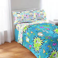 Nickelodeon Splat 4 Piece Full Sheet Set  NEW
