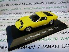 Lamborghini Miura P400 1966 1:43 LES VOITURES MYTHIQUES ATLAS CHAPATTE 007