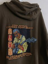Vintage 2007 Bluegrass Festival Brunswick Maine Hoodie, Comfort Colors Tag Large