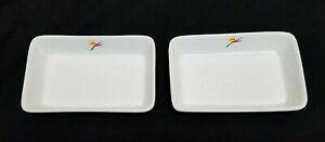 Vintage ALOHA AIRLINES Dish (2) Ceramic - Bird of Paradise logo - HAWAII