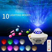 LED Laser Star Projector Light Nebula Cloud Night Lamp For Kids Remote Control