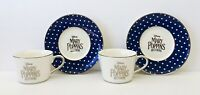 Disney Mary Poppins Returns Set of 2 Tea Cups & Saucers Movie Promo *FREE SHIP!*