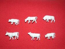 Model Train Cows Figures x 6 Assorted  HO/OO  Scale