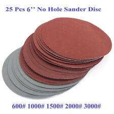 6 150mm Sanding Disc Hook And Loop Sandpaper Discs 600-3000 Grit Sander Pads