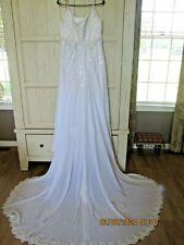 Oleg Cassini Wedding Gown- sz 16- Beaded w/ small train-Strapless