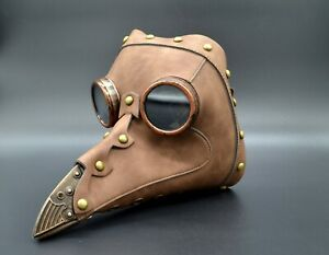 Steampunk Plague Doctor Schnabel Mask Costume Medieval Raven Long Beak Bird