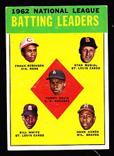1963 TOPPS #1 TOMMY DAVIS/FRANK ROBINSON/STAN MUSIAL/BILL WHITE/HANK AARON