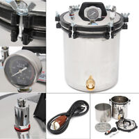 18L Bottle Steam Autoclave Sterilizer Dental Pressure Sterilization Dual Heating