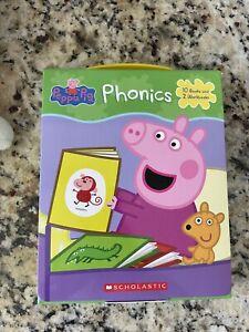 Peppa Pig phonics learning workbook set - New