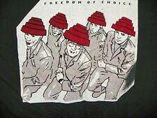 VINTAGE DEVO 1980'S FREEDOM OF CHOICE BLACK CONCERT TEE SIZE LARGE