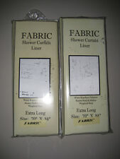 Two (2) Fabric Shower Curtain Liners (new) Extra Long
