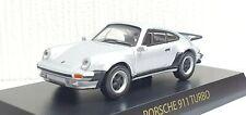 1/64 Kyosho PORSCHE 911 TURBO 930 SILVER diecast car model